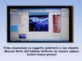 Schermata Adipometria soggetto NON allenato