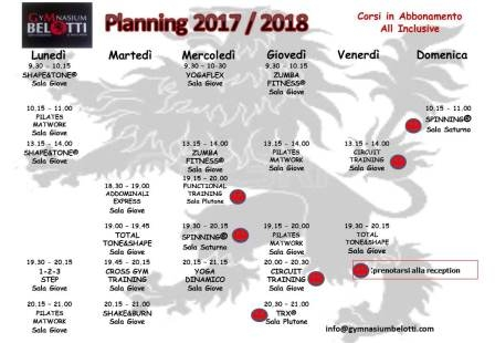 Planning completo 2017 - 2018 CORSI ALL INCLUSIVE - Colore