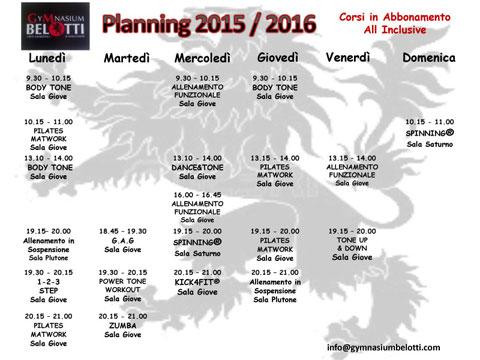 Planning 2015/2016