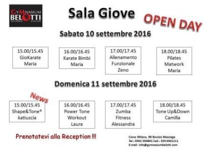 Orario Open Day 2016  Sala Giove